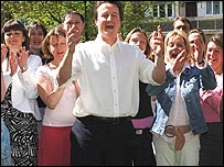 David Cameron with women councillors