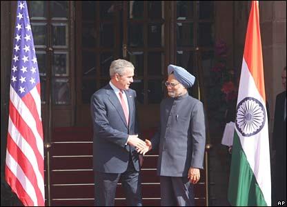 President Bush and Prime Minister Manmohan Singh