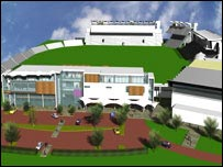 Artist's impression of the new ground at Sophia Gardens