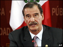 Mexico's President Vicente Fox
