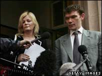 Gary McKinnon and Karen Todner outside court, Getty