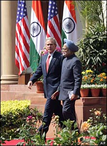 President Bush and Prime Minister Singh