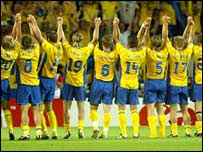 Sweden bow out of the 2002 World Cup
