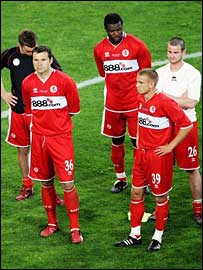 Middlesbrough's players after the final defeat