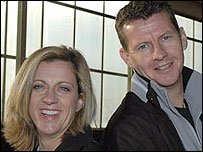 Sally Gunnell (L) and Steve Cram