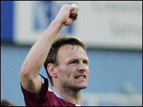 West Ham striker Teddy Sheringham