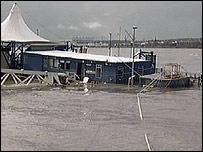 Sunk ferry terminal at Pier Head
