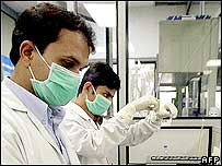 Technicians at Ranbaxy laboratory