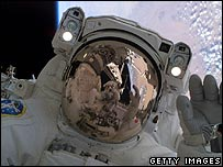 Nasa astronaut on spacewalk