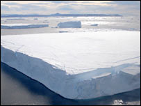 Floating iceberg off the Antarctic Peninsula.  Image: University of Colorado