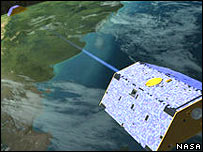 Artist's impression of the Grace satellites in orbit.  Image: Nasa