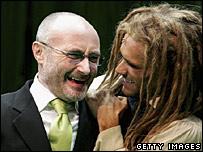 Phil Collins and Josh Strickland