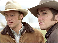 Heath Ledger (left) and Jake Gyllenhaal