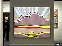 Roy Lichtenstein's Sinking Sun