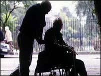 Enfermo y su cuidador