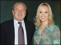 Sir Alan Sugar with Michelle Dewberry
