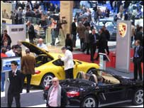 Porsche stand at Geneva