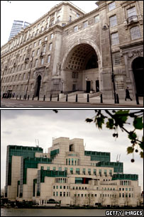 MI5 building (top) and MI6 building (bottom)