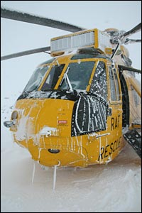 Sea King in snow