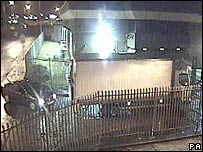 A CCTV still of the �53m raid at a Securitas depot in Kent