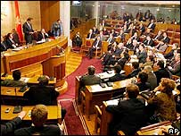 Montenegro's parliament in session
