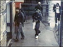 CCTV of bombers at Luton station