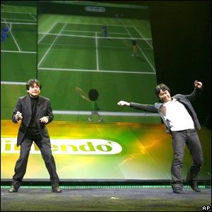 Nintendo executives play virtual tennis