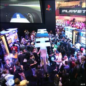 Games at the PlayStation stand at E3
