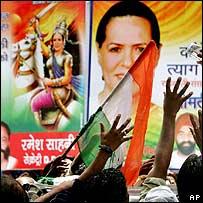 Sonia Gandhi victory celebrations