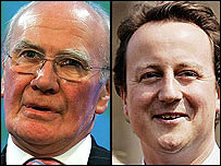 Sir Menzies Campbell and David Cameron