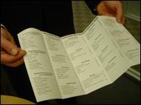 Oscar ballot paper