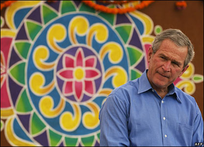 President Bush at Acharya NG Ranga Agricultural University Friday 3 March 2006