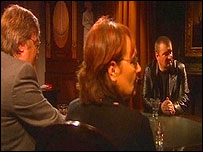 Sylvia and Roddy Hackett meet Michael Stone