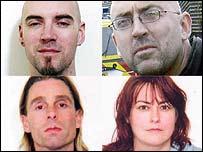 (Clockwise from top left) Jon Ablewhite, John Smith, Josephine Mayo, Kerry Whitburn
