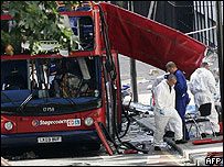 Tavistock Square bombed bus