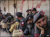 Police in Peshawar on Friday 3 March 2006