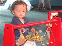 Child at nursery (photo courtesy of Liverpool Philharmonic)