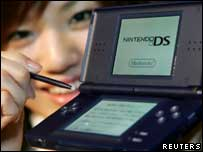 Nintendo DS Lite game gadget, Reuters