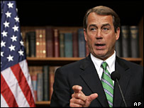 House majority leader John Boehner