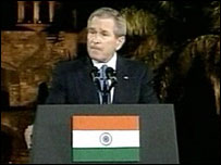 President Bush at the Purana Qila