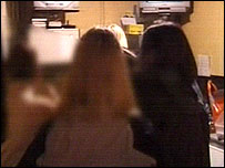 From a police video of the raids in south Wales