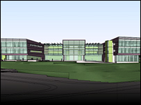 Artist's impression of the new assembly building