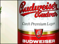 The Czech Budweiser beer