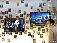 Blu-ray disc display