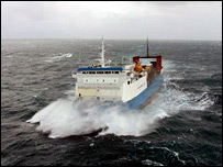 The Muirneag, crossing The Minch. Picture courtesy of Ships of Calmac/Chris Murray