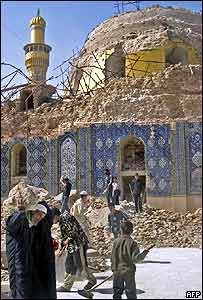 The Samarra shrine after the bombing