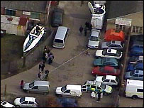 Aerial view of site searched in Welling