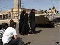 Baghdad street during curfew hours