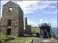 Cornish tin min engine house