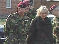 Prince Charles and Camilla were in Colchester to meet troops from the 3rd Battalion